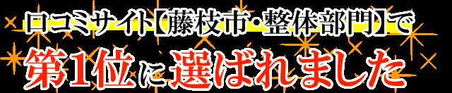 藤枝 整体  口コミサイト